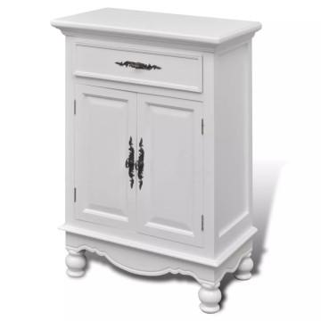 2 ajtós 1 fiókos fehér fa szekrény - ingyenes szállítás
