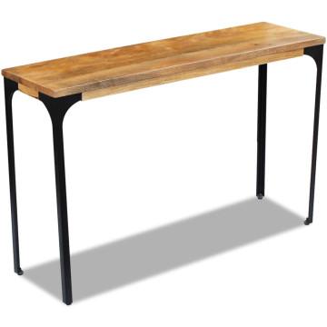 120x35x76 cm Mangófa konzolasztal - utánvéttel vagy ingyenes szállítással