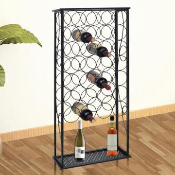 Fém bortartó állvány 28 palackhoz - ingyenes szállítás