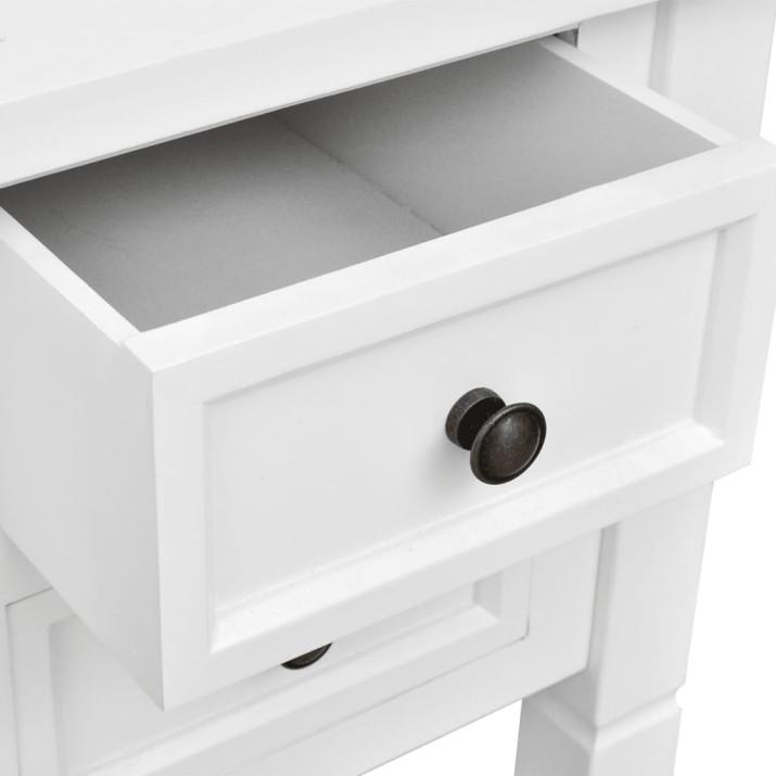 Fehér íróasztal 5 fiókkal - utánvéttel vagy ingyenes szállítással