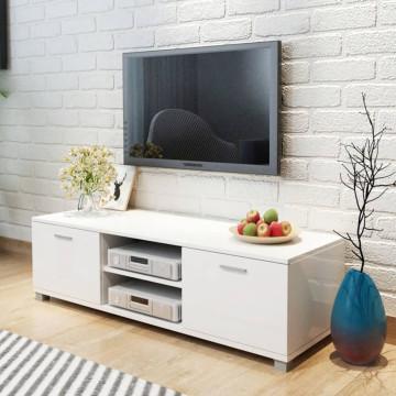 140x40,3x34,7 cm TV szekrény magasfényű fehér - utánvéttel vagy ingyenes szállítással
