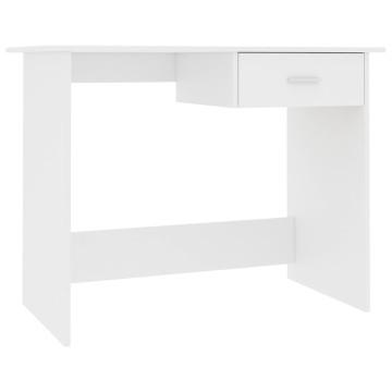Fehér forgácslap íróasztal 100 x 50 x 76 cm - utánvéttel vagy ingyenes szállítással
