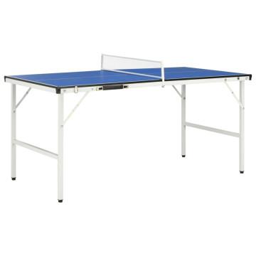 Kék pingpongasztal hálóval 152 x 76 x 66 cm - utánvéttel vagy ingyenes szállítással