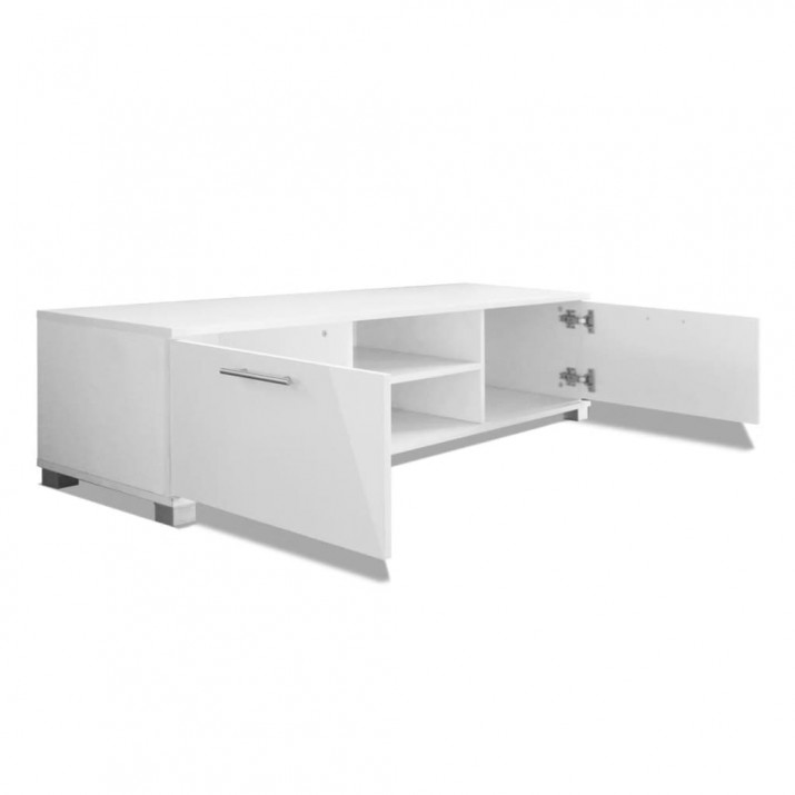 120x40,3x34,7 cm TV szekrény magasfényű fehér - ingyenes szállítás