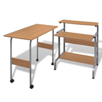 Állítható Számítógépasztal Barna - ingyenes szállí...