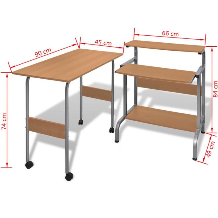 Állítható Számítógépasztal Barna - ingyenes szállítás