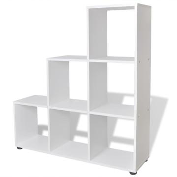 Fehér lépcsős polc 107 cm - ingyenes szállítás