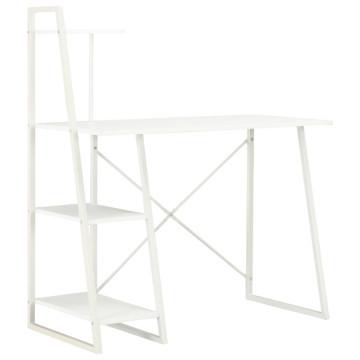 Fehér íróasztal polcrendszerrel 102 x 50 x 117 cm ...