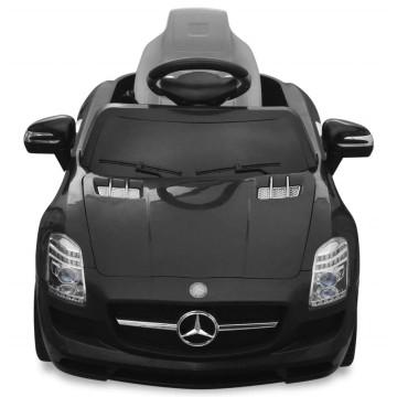 Mercedes Benz SLS AMG Elektromos kisautó távirányítóval 6 V fekete - utánvéttel vagy ingyenes szállítással