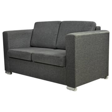2 személyes szövet kanapé sötétszürke - ingyenes szállítás
