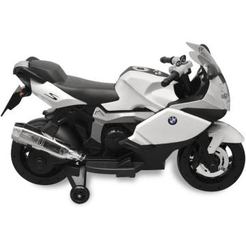 Elektromos BMW 283 gyerek motorkerékpár 6 V fehér - ingyenes szállítás