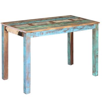 115x60x76 cm Tömör újrahasznosított fa étkezőasztal - ingyenes szállítás