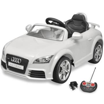 Audi TT RS elektromos kisautó távirányítóval fehér - ingyenes szállítás