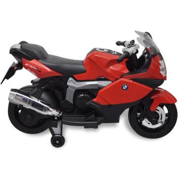 Elektromos BMW 283 gyerek motorkerékpár 6 V piros - ingyenes szállítás