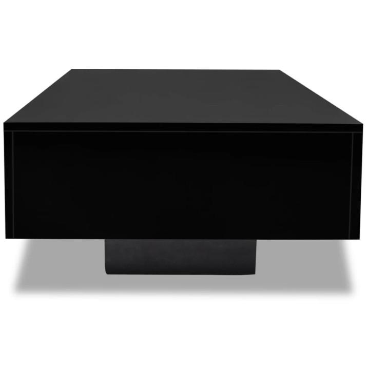 Magasfényű fekete dohányzóasztal - utánvéttel vagy ingyenes szállítással