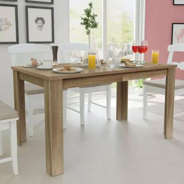 140x80x75 cm tölgyfa étkezőasztal - ingyenes szállítás