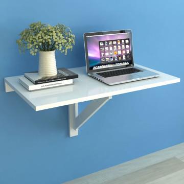 Fehér lehajtható fali asztal 100 x 60 cm - utánvét...