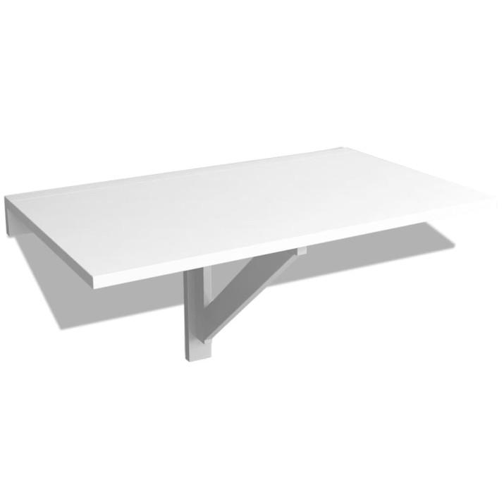 Fehér lehajtható fali asztal 100 x 60 cm - utánvéttel vagy ingyenes szállítással