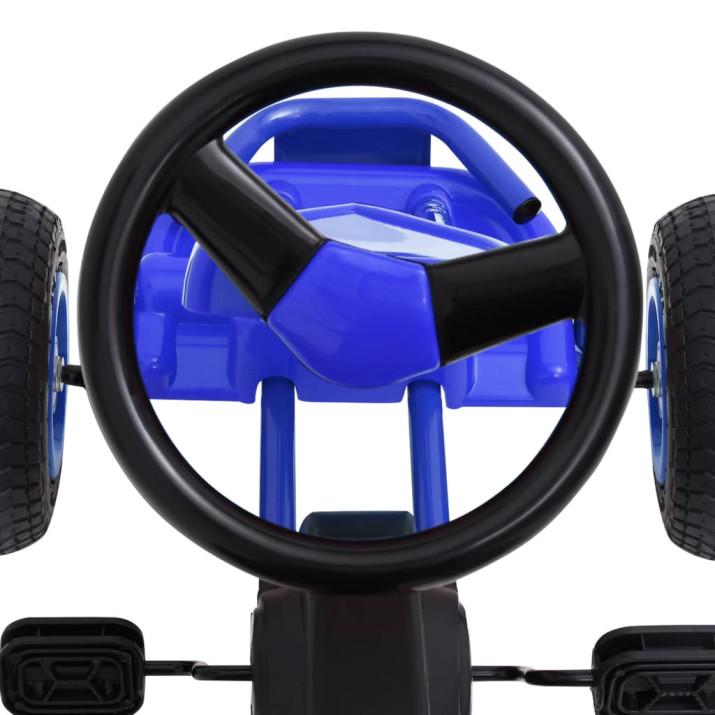 Kék pedálos gokart pneumatikus gumikkal - utánvéttel vagy ingyenes szállítással