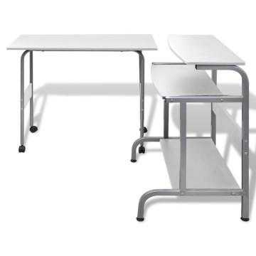 Állítható Számítógépasztal Fehér - utánvéttel vagy ingyenes szállítással