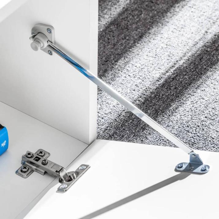 5-részes magasfényű fehér fali TV-szekrény LED-fényekkel - utánvéttel vagy ingyenes szállítással