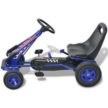 Pedálos gokart kocsi állítható üléssel kék - ingyenes szállítás