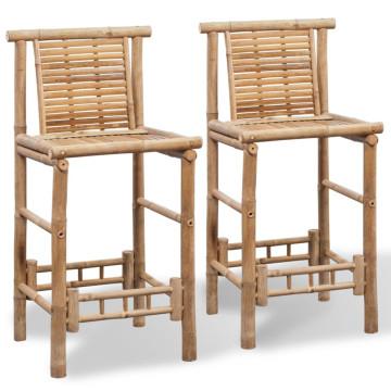 2 db bambusz bárszék - ingyenes szállítás