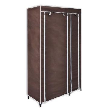 2 db barna szövet ruhásszekrény - ingyenes szállítás