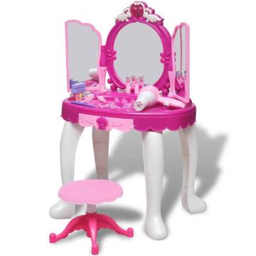 Gyerek álló fésülködőasztal 3 tükörrel, fényekkel és hangeffektusokkal - utánvéttel vagy ingyenes szállítással