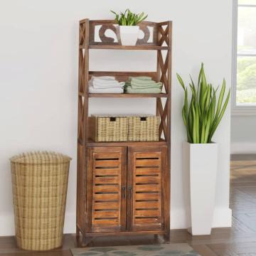 'Albuquerque' barna fa fürdőszobaszekrény 46 x 24 x 117,5 cm - utánvéttel vagy ingyenes szállítással