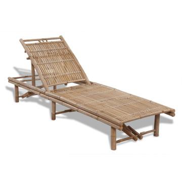 Bambusz napozóágy - ingyenes szállítás