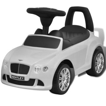 Bentley Tolható Gyerek Autó Fehér - utánvéttel vagy ingyenes szállítással