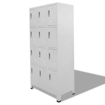 12 rekeszes acél öltözőszekrény 90 x 45 x 180 cm - utánvéttel vagy ingyenes szállítással