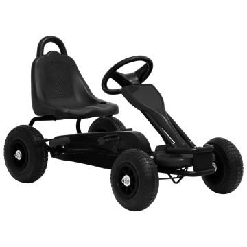 Fekete pedálos gokart pneumatikus gumikkal - ingyenes szállítás