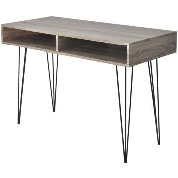 2 rekeszes szürke íróasztal - utánvéttel vagy ingyenes szállítással
