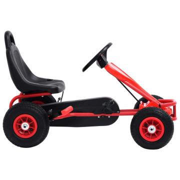 Piros pedálos gokart pneumatikus gumikkal - ingyenes szállítás