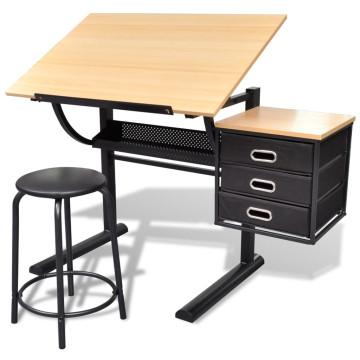 Billenthető Asztal Iróasztal Székkel - ingyenes szállítás