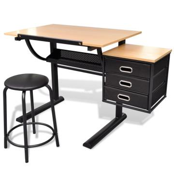 Billenthető Asztal Iróasztal Székkel - utánvéttel vagy ingyenes szállítással