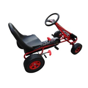 Pedálos gokart állítható üléssel piros - ingyenes szállítás