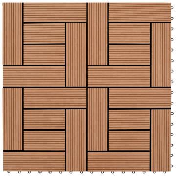 22 db (2 m2) barna WPC teraszburkoló lap 30 x 30 cm - utánvéttel vagy ingyenes szállítással