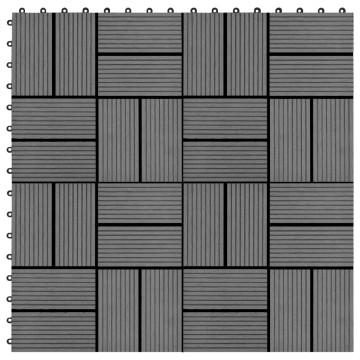 22 db (2 m2) szürke WPC teraszburkoló lap 30 x 30 cm - utánvéttel vagy ingyenes szállítással