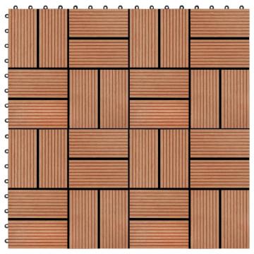 22 db (2 m2) tíkfa színű WPC teraszburkoló lap 30 x 30 cm - utánvéttel vagy ingyenes szállítással