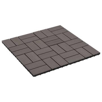 22 db (2 m2) sötétbarna WPC teraszburkoló lap 30 x 30 cm - utánvéttel vagy ingyenes szállítással
