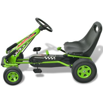 Pedálos gokart kocsi állítható üléssel zöld - ingyenes szállítás