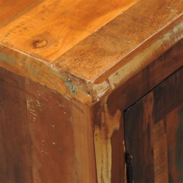 2 ajtós antik tömör újrahasznosított fa szekrény - ingyenes szállítás