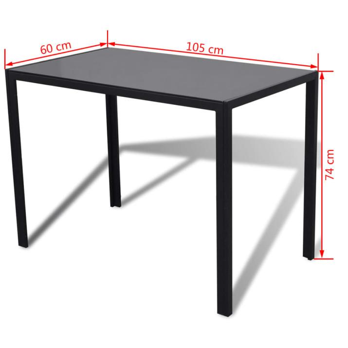5 darabos fekete étkezőasztal szett - ingyenes szállítás