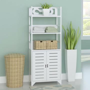 'Albuquerque' fehér fa fürdőszobaszekrény 46 x 24 x 117,5 cm - utánvéttel vagy ingyenes szállítással