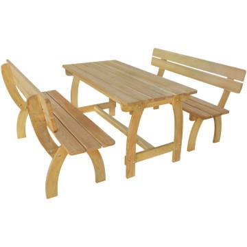Impregnált fenyőfa sörasztal 2 paddal - utánvéttel vagy ingyenes szállítással