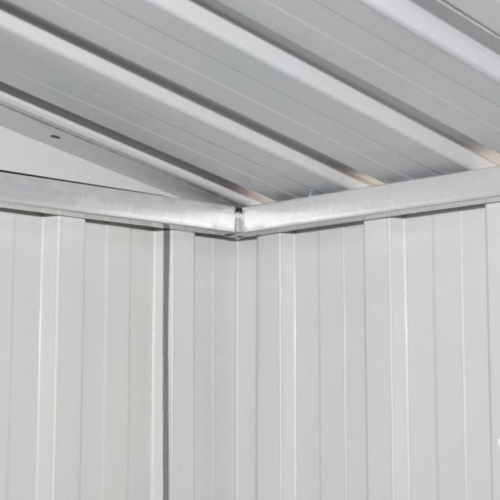 Barna acél kerti fém fészer 194 x 121 x 181 cm - utánvéttel vagy ingyenes szállítással