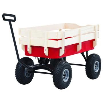 Piros kézikocsi 150 kg - utánvéttel vagy ingyenes szállítással